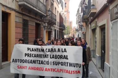 Cercavila anticapitalista per Sant Andreu amb motiu de l'1 de maig
